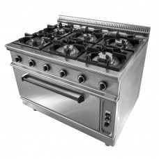 GAS STOVE SIX BURNER WITH OVEN