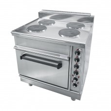ELECTRIC STOVE FOUR ROUNDED PLATES WITH OVEN